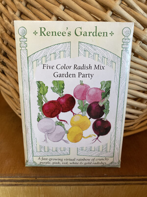 Five Color Radish Mix Garden Party   Renee's Garden Seed Pack   Past Year's Seeds   Reduced Price