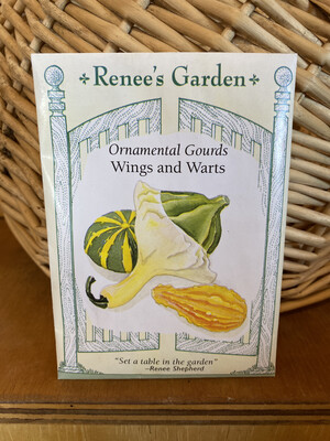 Ornamental Guards Wings and Warts   Renee's Garden Seed Pack   Past Year's Seeds   Reduced Price