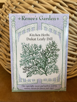 Dukat Leafy Dill   Renee's Garden Seed Pack   Past Year's Seeds   Reduced Price