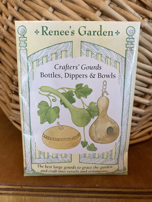 Crafters' Gourds Bottles, Dippers & Bowls   Renee's Garden Seed Pack   Past Year's Seeds   Reduced Price