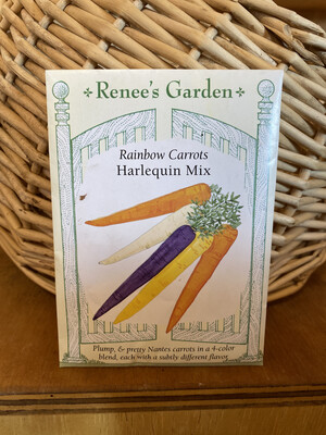 Rainbow Carrots Harlequin Mix   Renee's Garden Seed Pack   Past Year's Seeds   Reduced Price