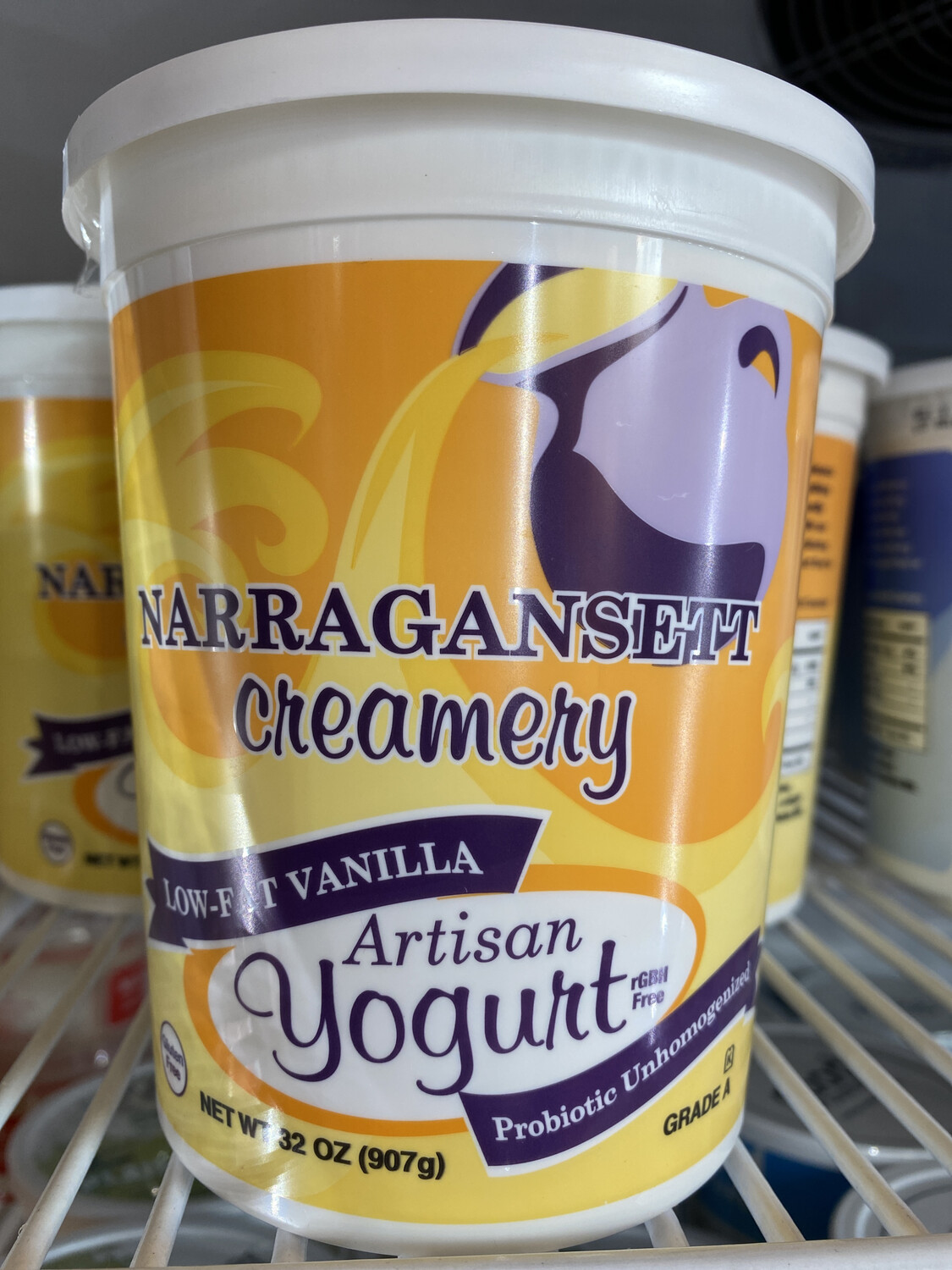Low Fat Vanilla Yogurt | 32 oz | Narragansett Creamery