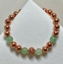 Copper with Green Adventurine  8mm