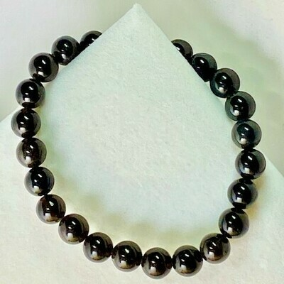 Black Obsidian Gemstone Beads 8mm