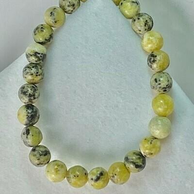 Yellow Turquoise Bead Bracelet
