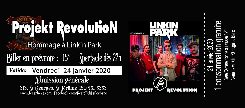 Prévente Hommage à Linkin Park - Projekt Revolution - 24 janiver 2020