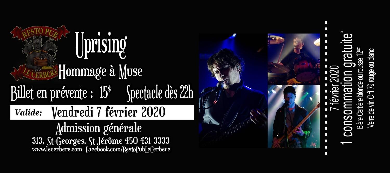 Prévente Hommage à Muse - Uprising - 7 février 2020