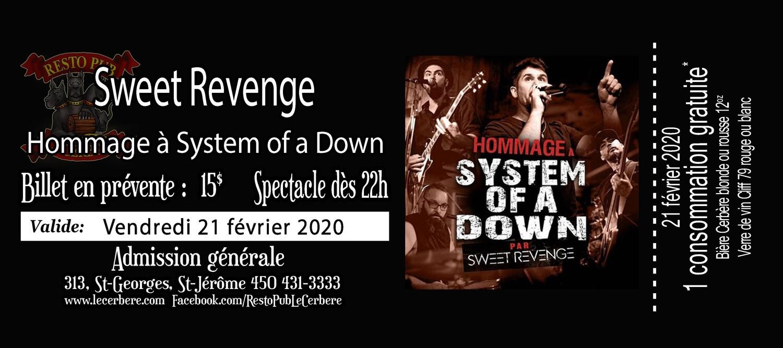 Prévente Hommage à System of a Down - Sweet Revenge - 21 février 2020