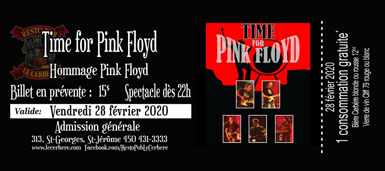 Prévente Hommage à Pink Floyd - Time for Pink Floyd - 28 février 2020