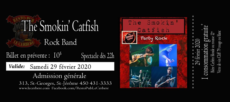 Prévente The Smokin' Catfish - Rock band - 29 février 2020