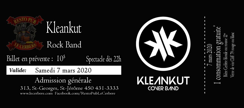 Prévente Kleankut - Rock Band - 7 mars 2020