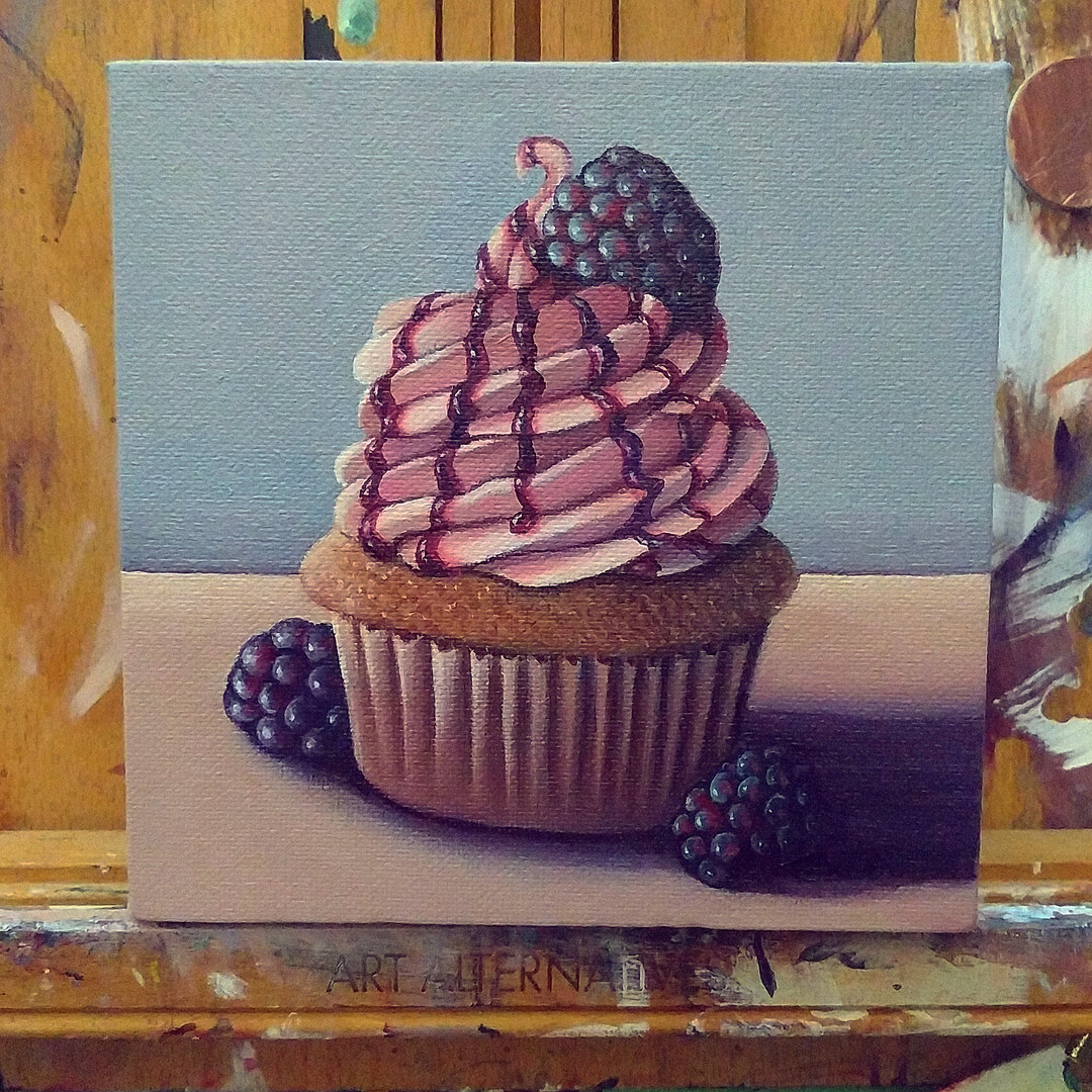 Blackberry Cupcake by Brandy Woodford