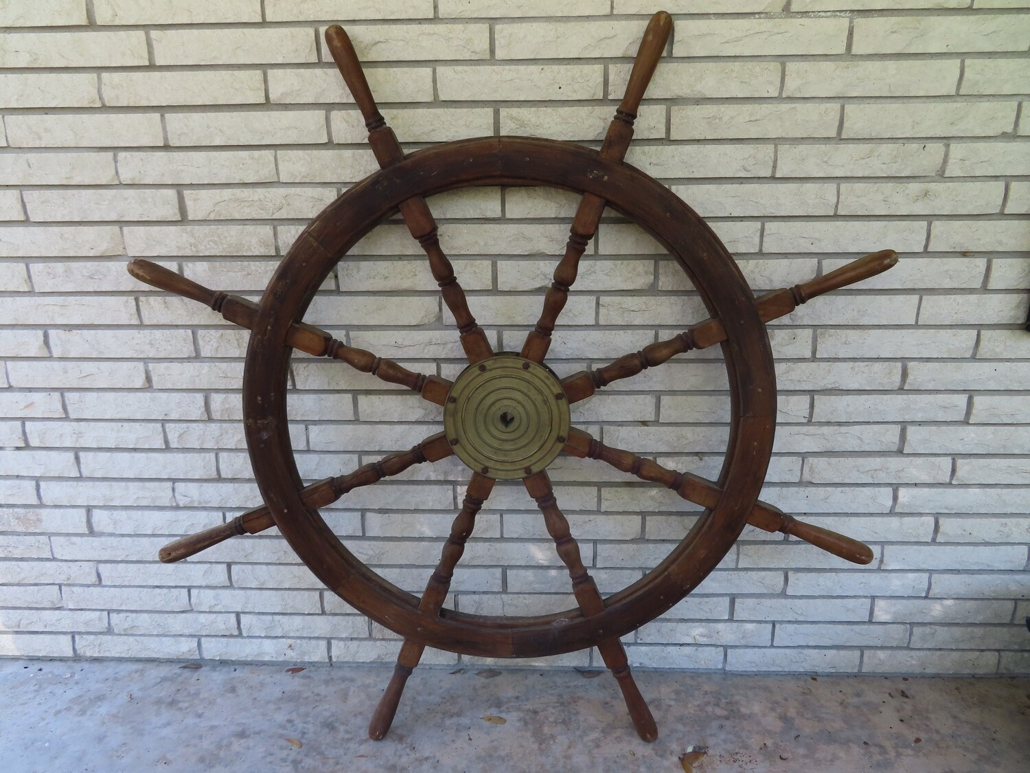 "Antique 56"" Ship's Wheel"