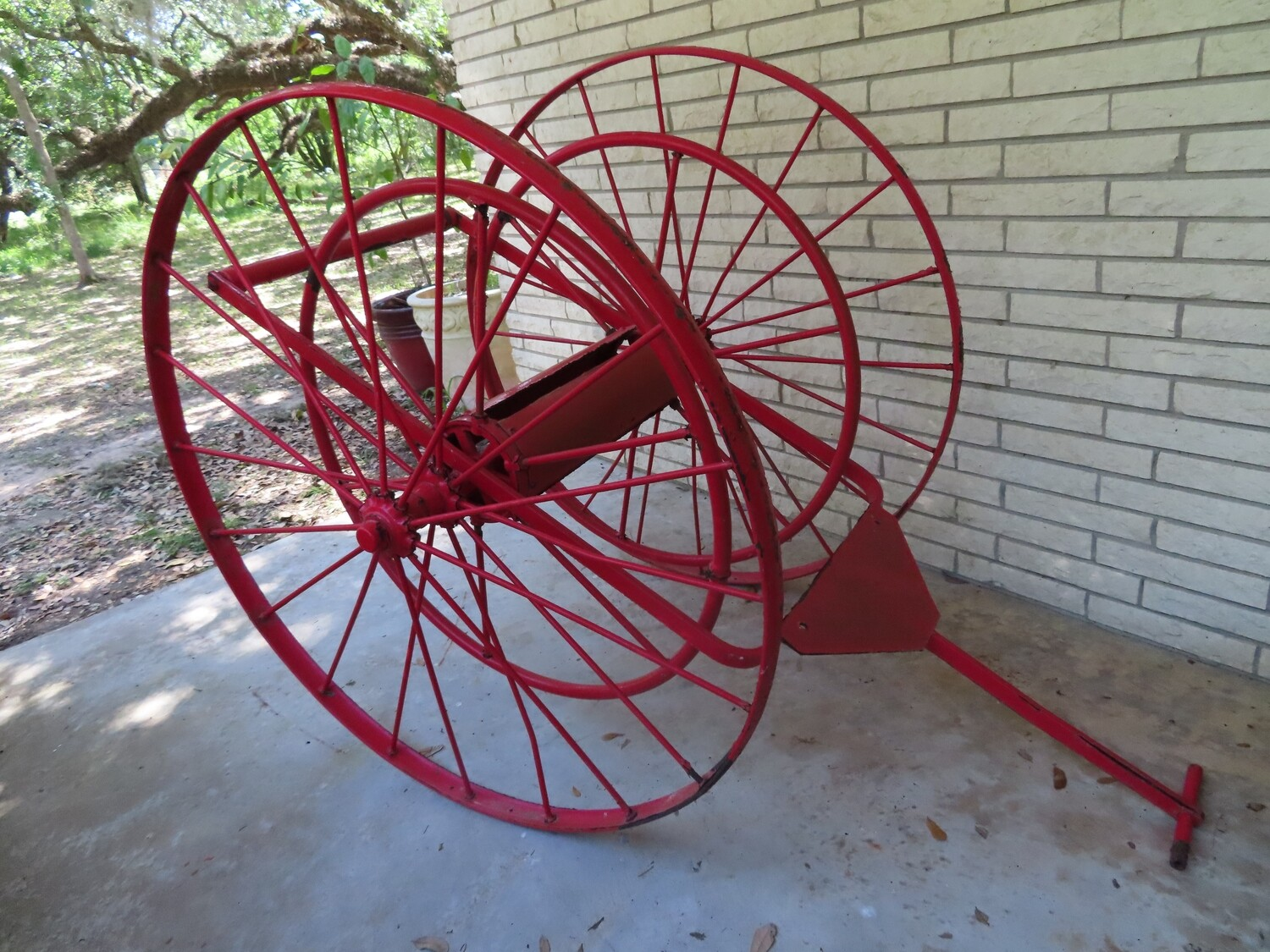 Historic Shell Fire Hose Cart