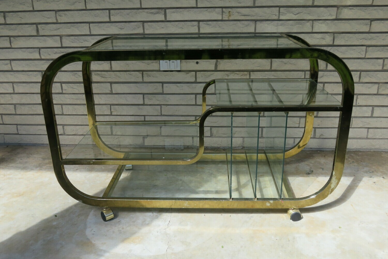 Midcentury Chrome Bar Cart