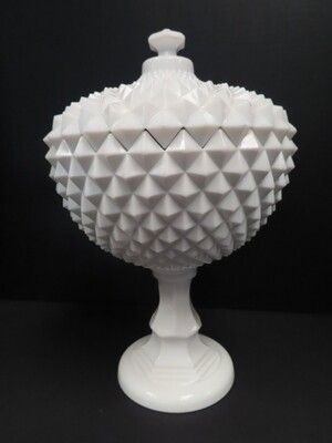 Large Milk Glass Candy Dish