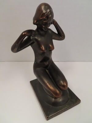 Bronze-Art Deco Nude Figurine