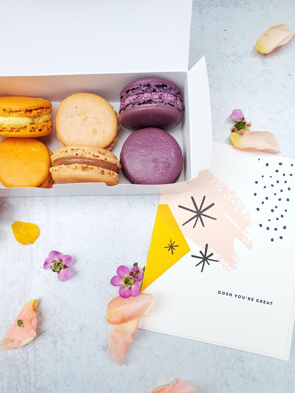 French Macarons: 6 pack (Honey Crumb Cake Studio)
