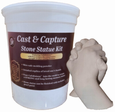 Memory Keepsake Hands Statue Kit Molding Powder & Casting Plaster by Grape Arts