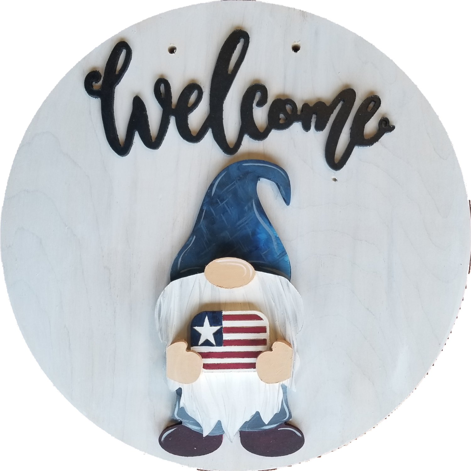 DIY Unpainted Gnome Cutout with Drop ins and 14