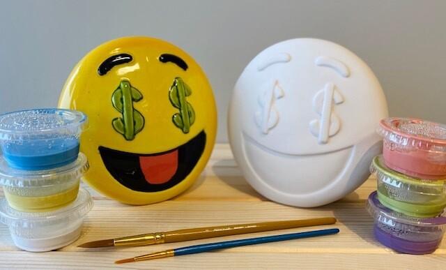 Take Home Emoji Bank with Glazes - Pick up at Pet Depot