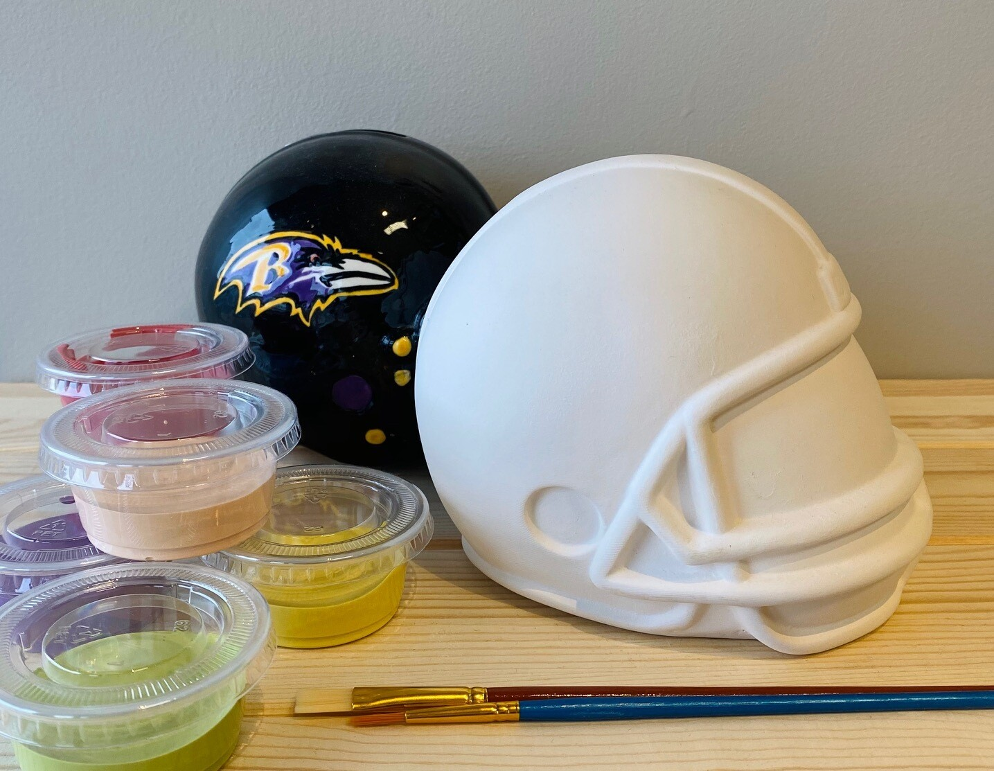 Take Home Helmet Bank with Glazes - Pick up at Pet Depot