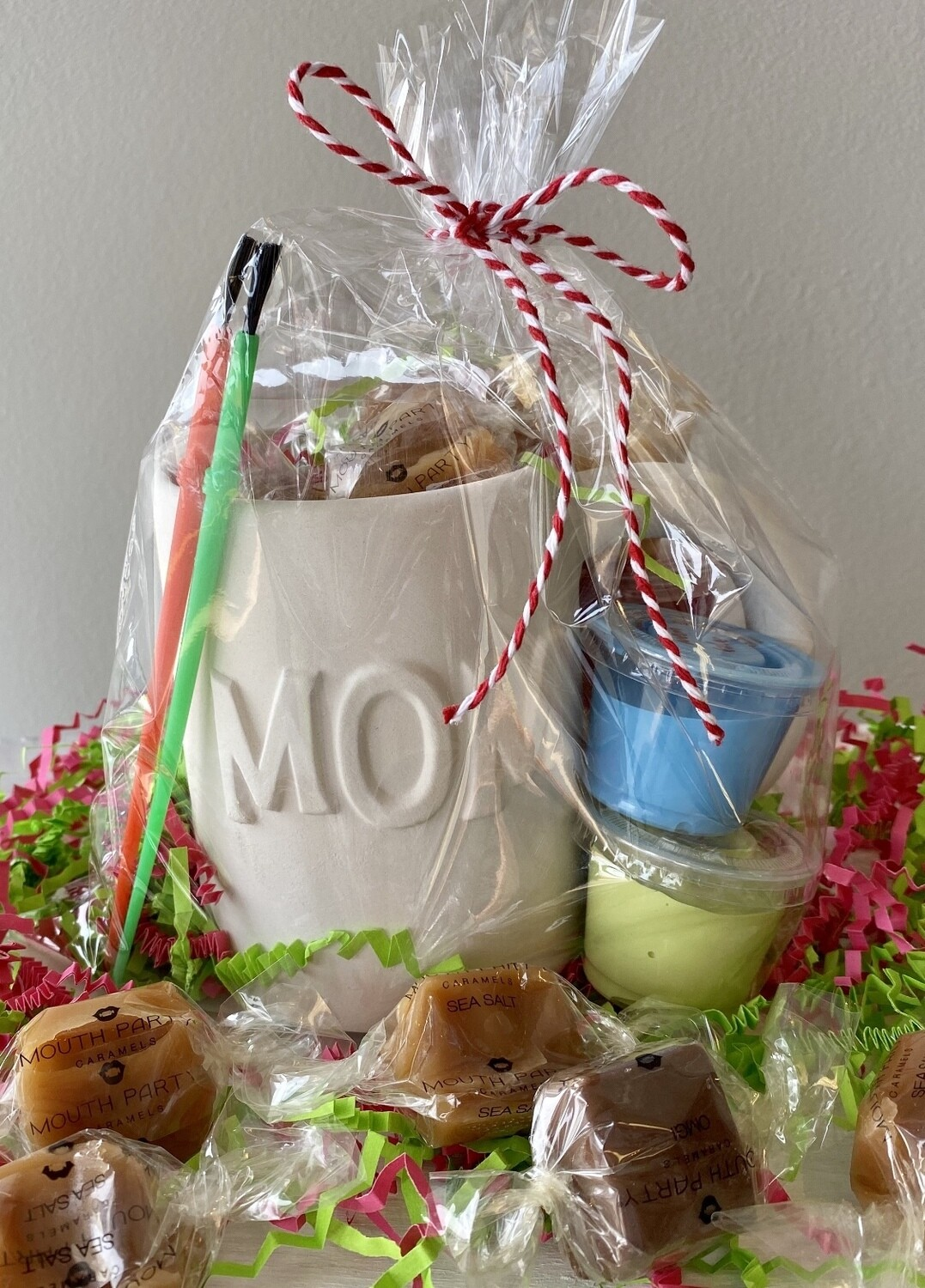 Take Home Mother's Day Gift!  Mom Mug with Mouth Party Caramels and Glazes - Pick up at Pet Depot