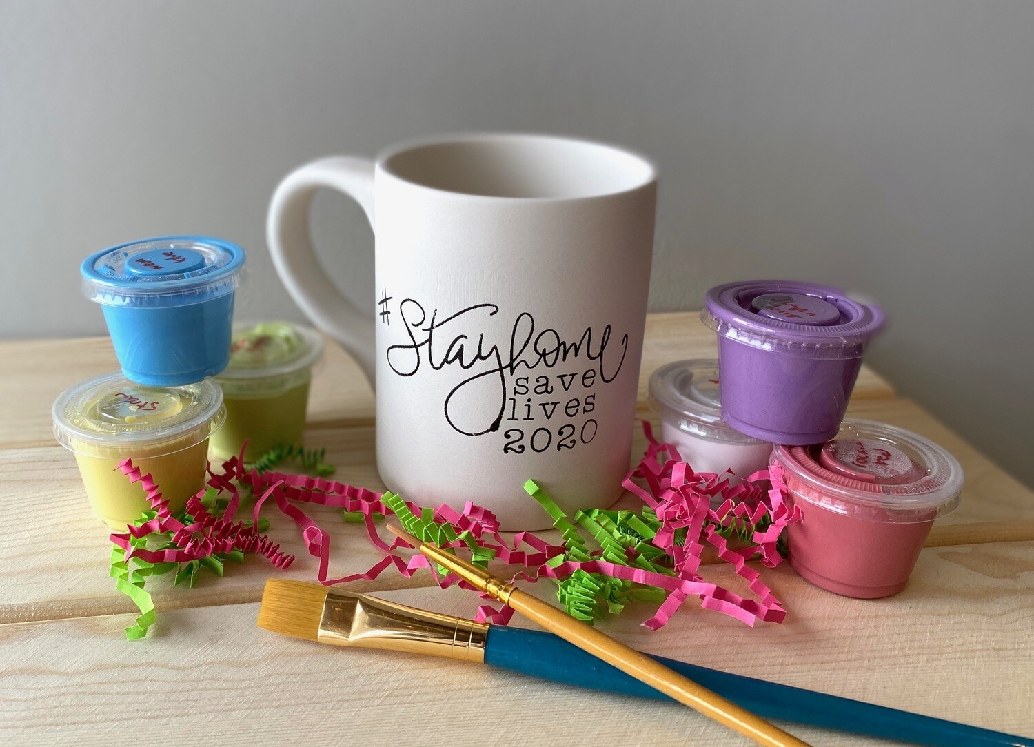Take Home Coloring Book 10 oz #Stayhome Mug with Glazes - Pick up at Pet Depot