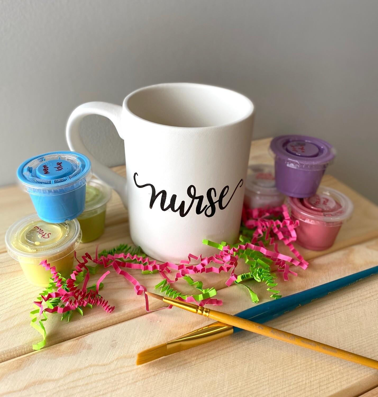 Take Home Coloring Book 12 oz Nurse Definition Mug with Glazes - Pick up at Pet Depot