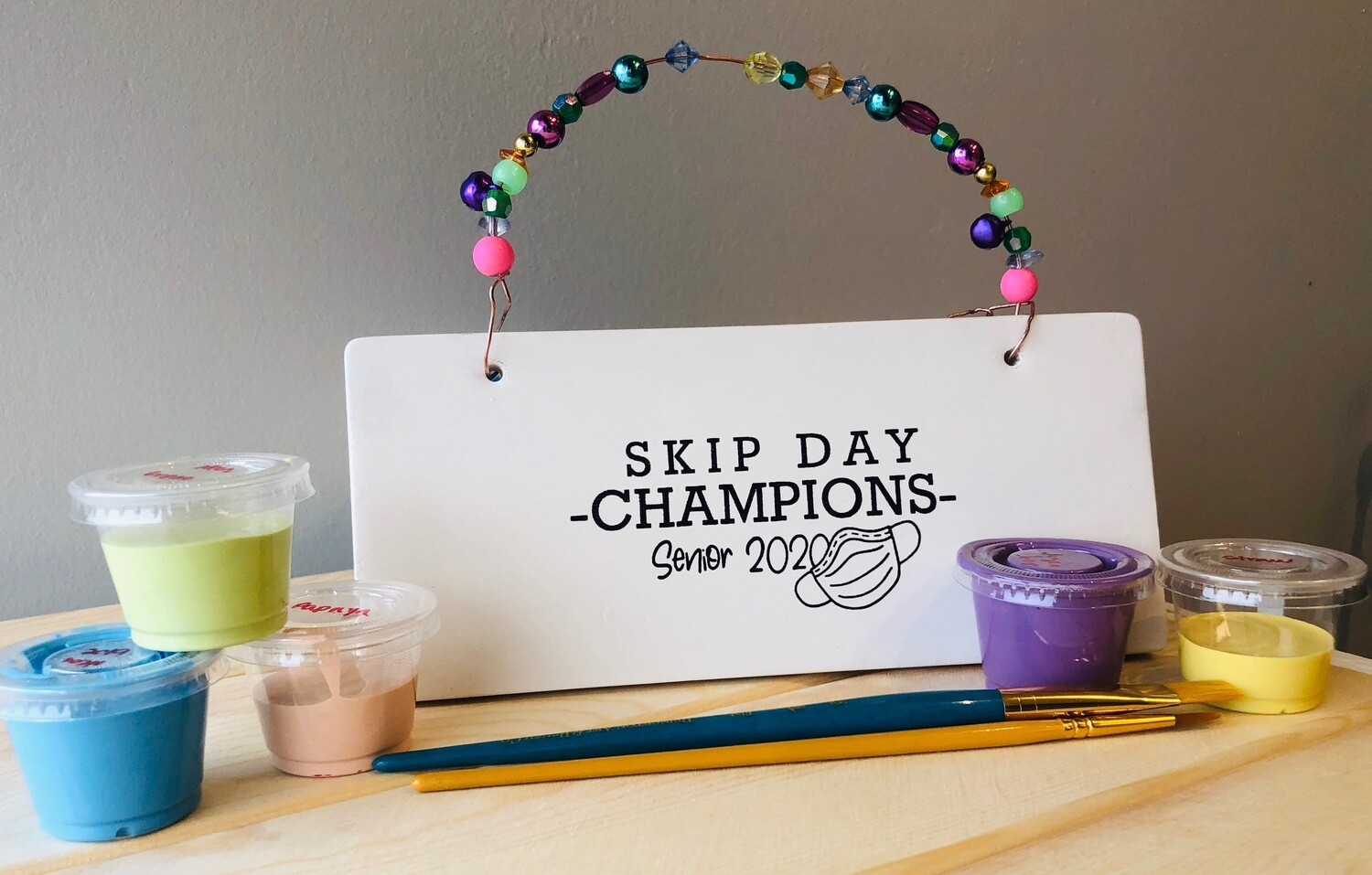 Take Home Coloring Book Class of 2020 Skip Day Champions Plaque with Glazes - Pick up at Pet Depot
