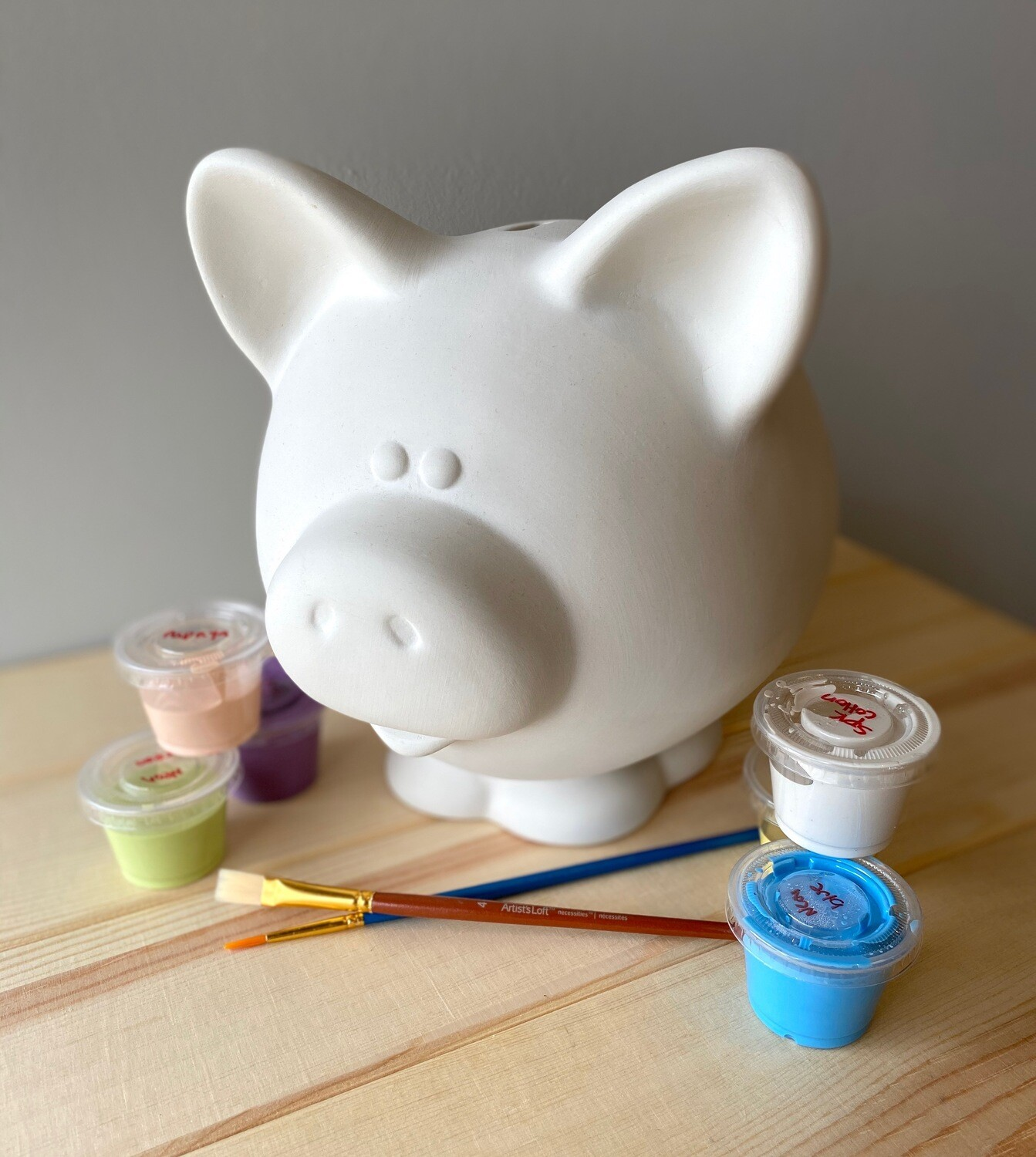 Take Home Large Piggy Bank with Glazes - Pick up at Pet Depot