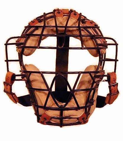Draper & Maynard Baseball Catcher's Mask with white leather padding