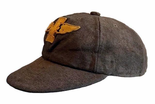 Vintage Baseball Cap - 1910's Short Brim Baseball Cap from Iona