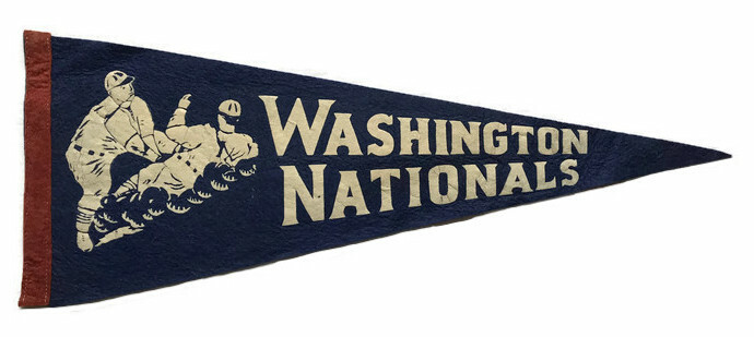 Antique Baseball Pennant - Washington Nationals
