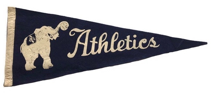 Antique Baseball Pennant - Philadelphia Athletics