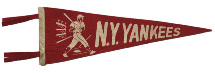 Antique New York Yankees Baseball Pennant