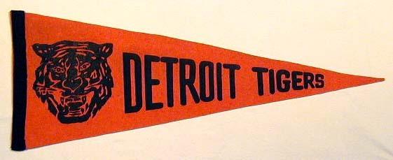 1940's Detroit Tigers Felt Pennant