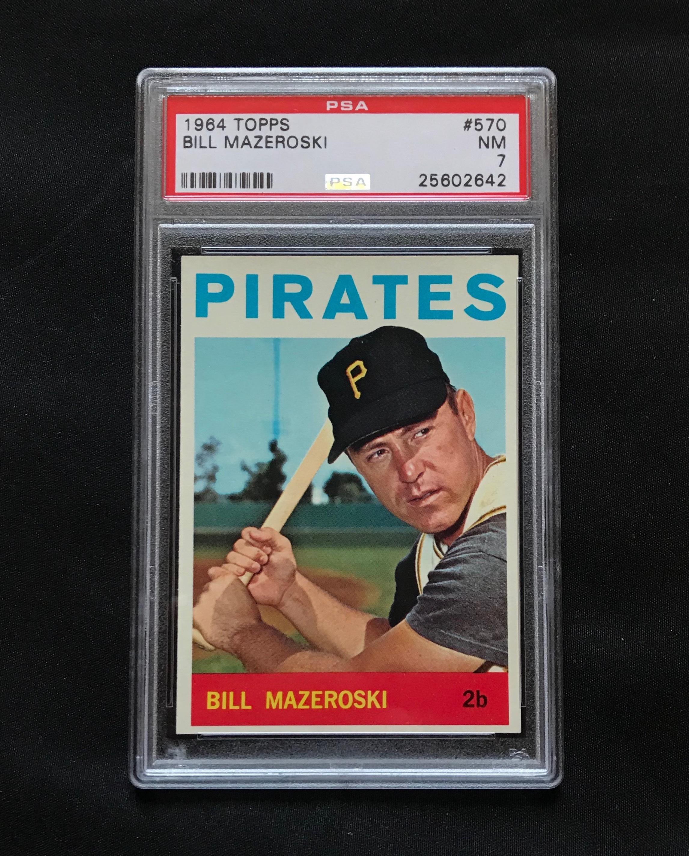 1964 Topps Bill Mazeroski #570 Baseball Card PSA 7