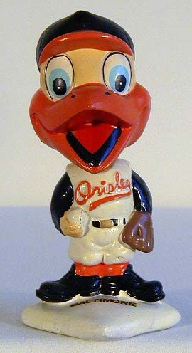 1960's Baltimore Orioles White Base Bobble Head Doll