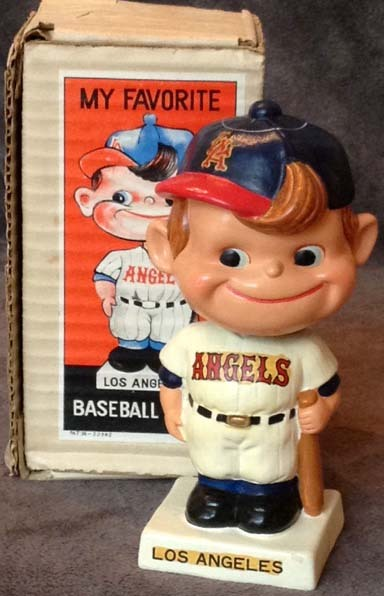 1960's Los Angeles Angels Bobble Head Doll