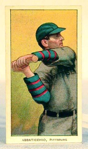 1909-1911 T206 Ed Abbaticchio Baseball Tobacco Card
