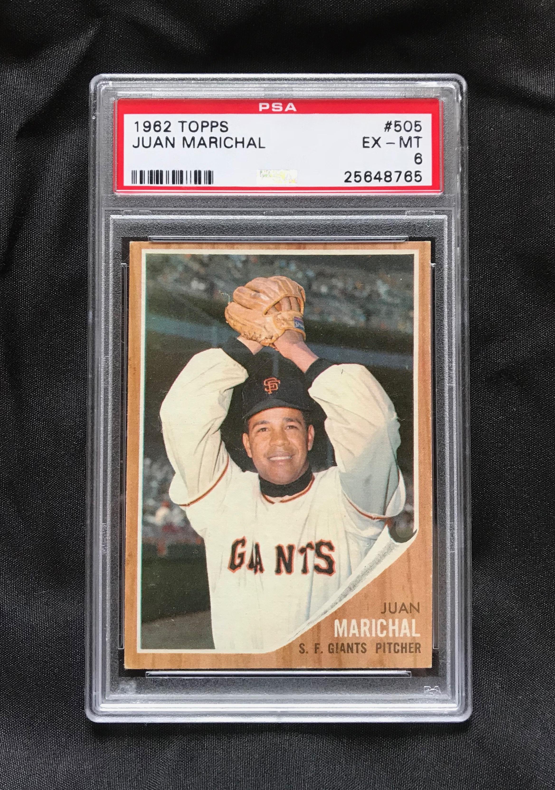 1962 Topps Juan Marichal #505 Baseball Card PSA 6