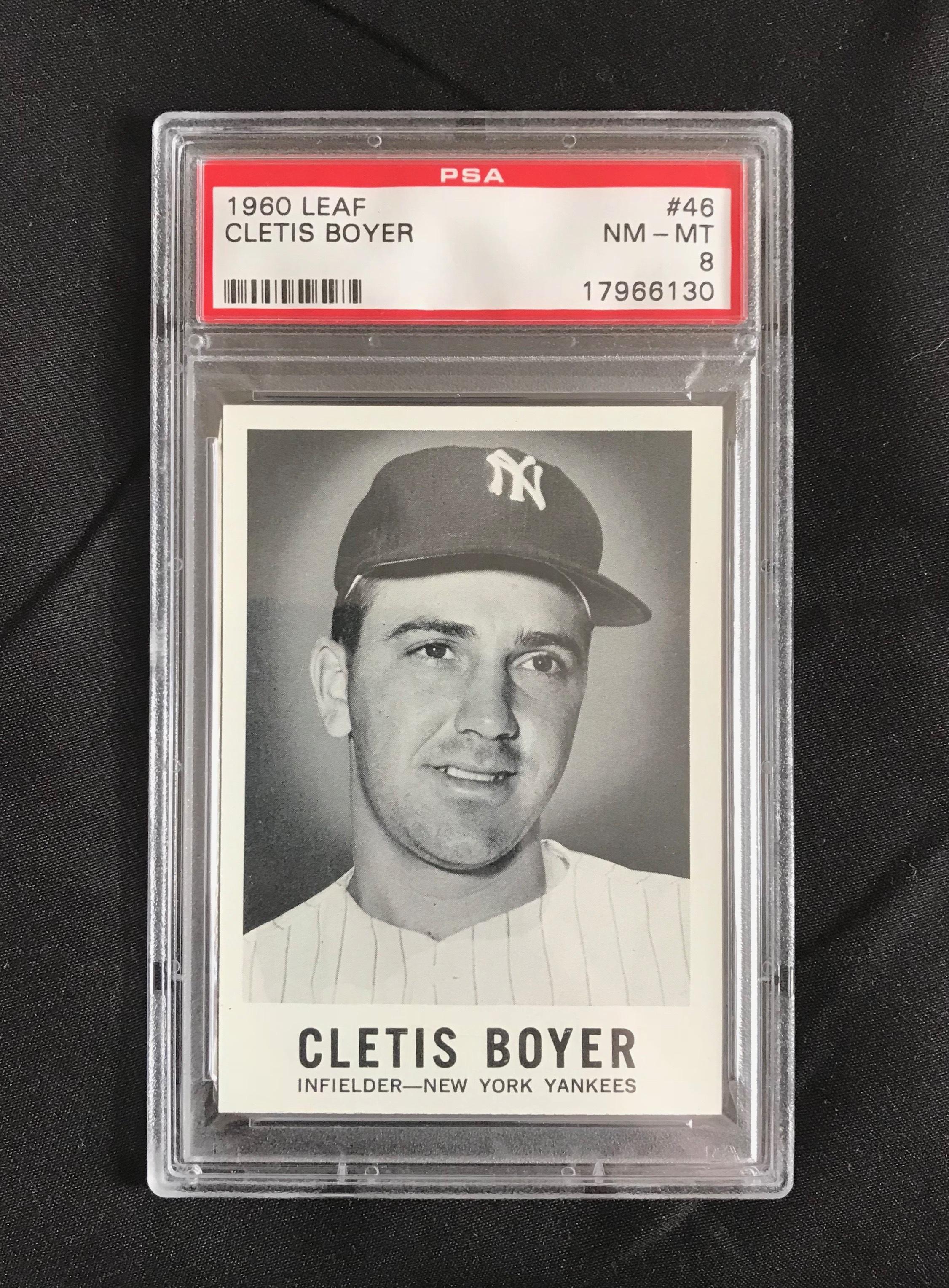 1960 Leaf Cletis Boyer #46 Baseball Card PSA 8