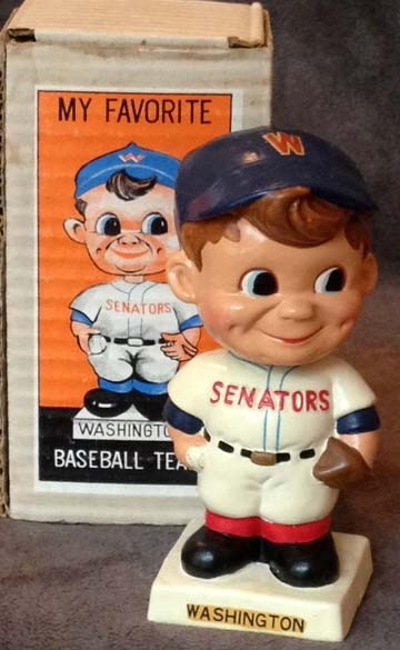 1960's Washington Senators Bobble Head Doll