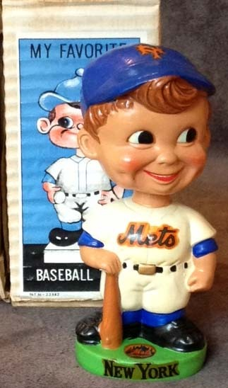 1960's New York Mets Green Base Bobble Head Doll