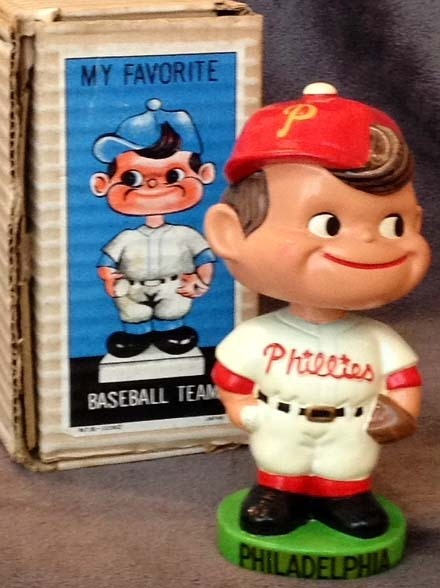 1962 Philadelphia Phillies Green Base Bobble Head Doll