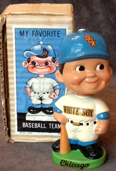 1962 Chicago White Sox Green Base Baseball Bobble Head Doll
