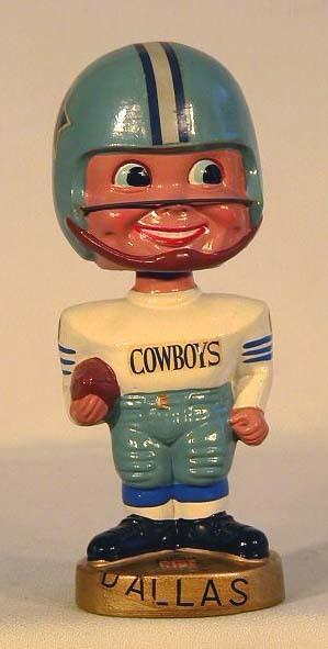 1960's Dallas Cowboys Football Bobble Head Doll