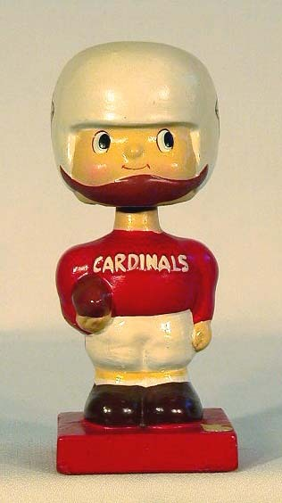 1960's St. Louis Cardinals Football Bobble Head Doll