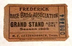 1908 Frederick Base Ball Association Full Ticket